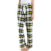 Concepts Sport Women's Oregon Ducks Yellow/Green Homestretch Sleep Pants