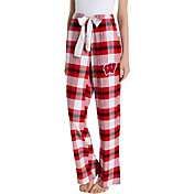 Concepts Sport Women's Wisconsin Badgers Red/White Homestretch Sleep Pants