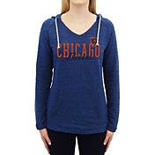 Concepts Sport Women's Chicago Bears Mainstream Blue Hooded Long Sleeve Shirt