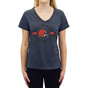 Concepts Sport Women's Cleveland Browns Quest Charcoal V-Neck T-Shirt