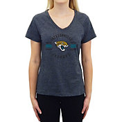 Concepts Sport Women's Jacksonville Jaguars Quest Charcoal V-Neck T-Shirt