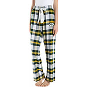 Concepts Sport Women's Green Bay Packers Hideaway Flannel Pants