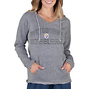 Concepts Sport Women's Pittsburgh Steelers Mainstream Grey Hoodie