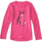 Carhartt Little Girls' Texture Horse Long Sleeve Shirt