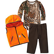 Carhartt Infant Boys' Camo 3-Piece Onesie, Vest and Pant Set