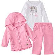 Carhartt Infant Girls' 3-Piece Shirt, Jacket and Pant Set