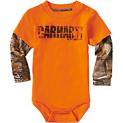Carhartt Infant Boys' Earn That Buck Long Sleeve Onesie