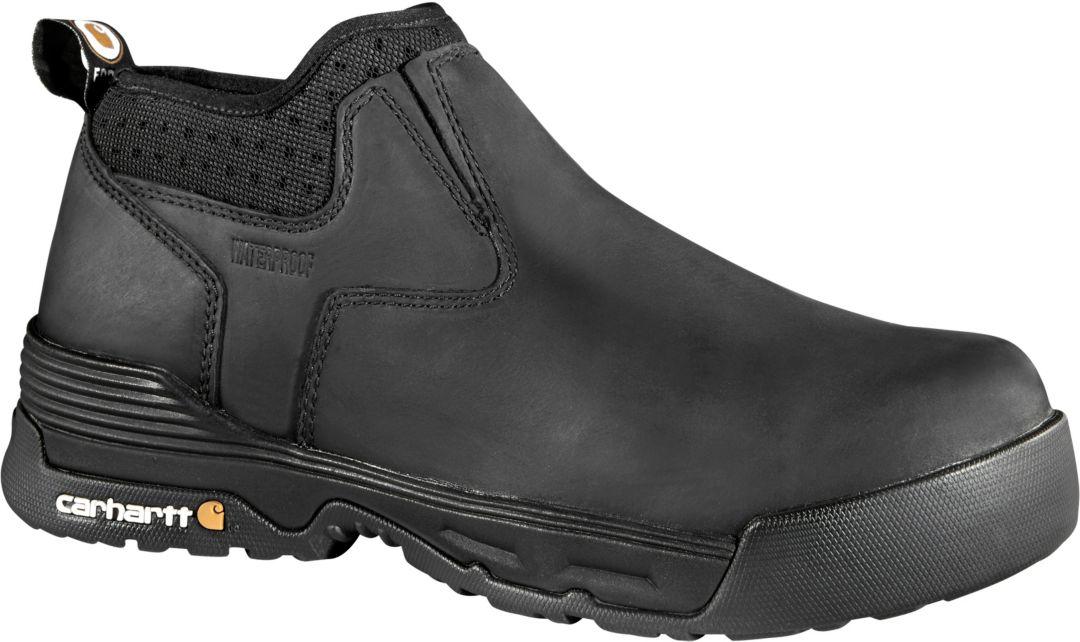 81b9f55dc94 Carhartt Men's Force 4'' Slip-On Composite Toe Waterproof Work Boots