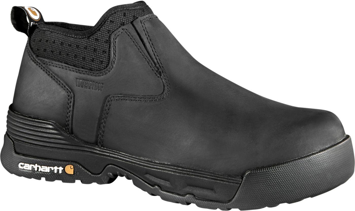 Carhartt Men's Force 4'' Slip-On Composite Toe Waterproof Work Boots