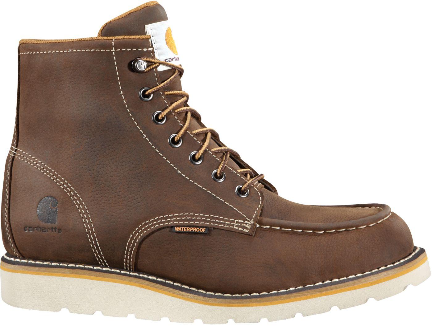 Carhartt Men's Moc Toe Wedge 6'' Waterproof Steel Toe Work Boots