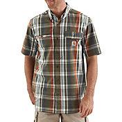Carhartt Men's Force Ridgefield Plaid Short Sleeve Shirt