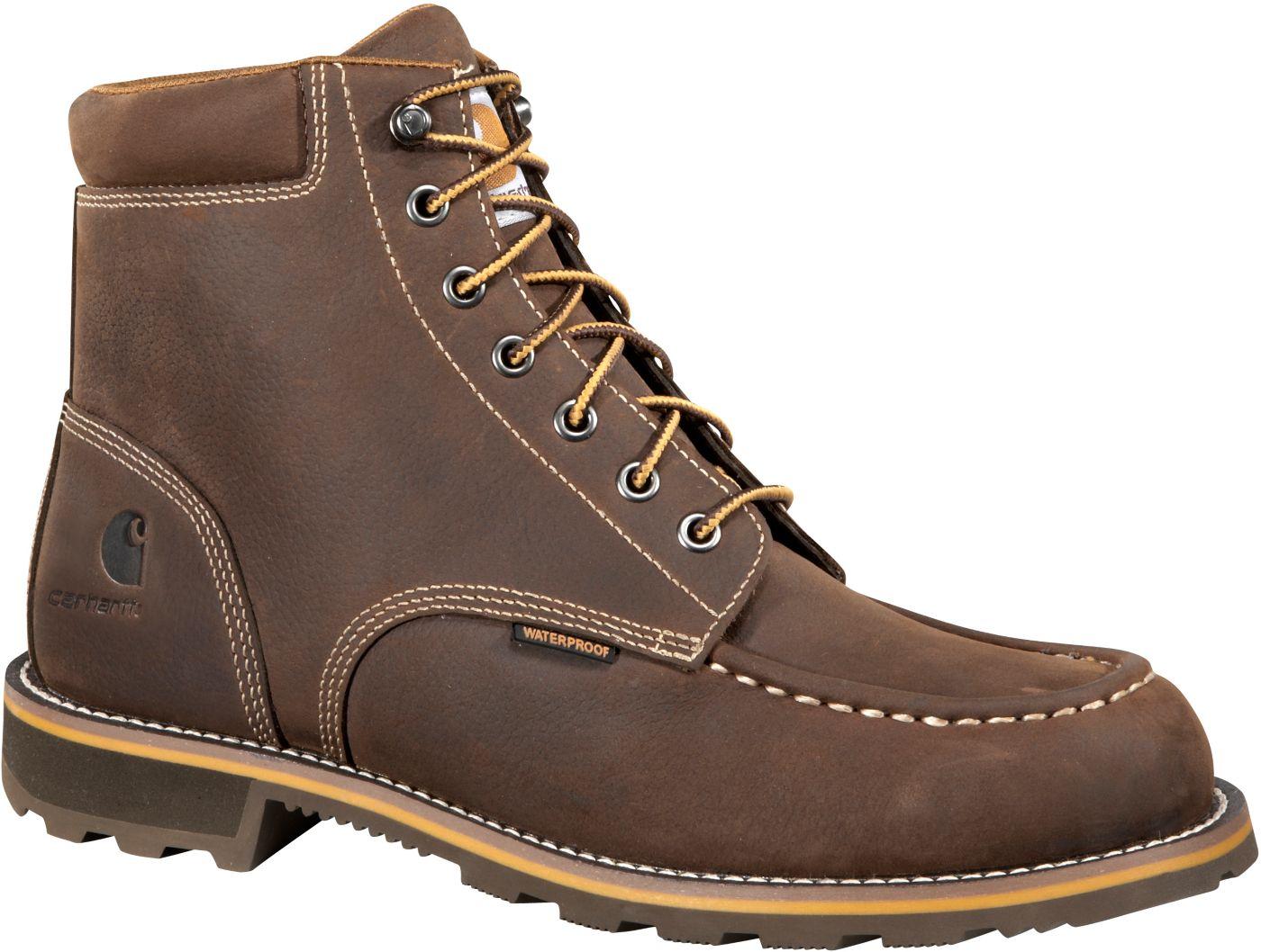 Carhartt Men's Moc 6'' Waterproof Steel Toe Work Boots