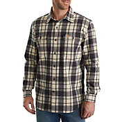 Carhartt Men's Hubbard Plaid Long Sleeve Button Down Shirt