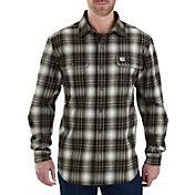 Carhartt Men's Hubbard Plaid Long Sleeve Button Down Shirt