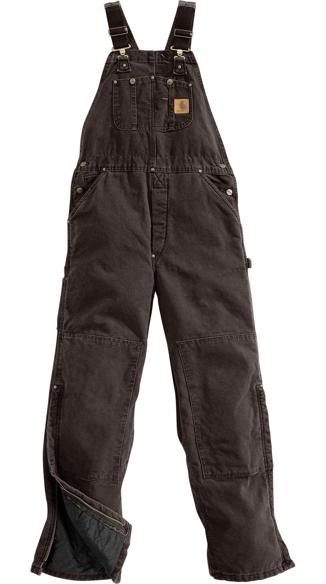 09a31a32c7 Carhartt Men's Sandstone Duck Quilt-Lined Overall Bib | Field & Stream