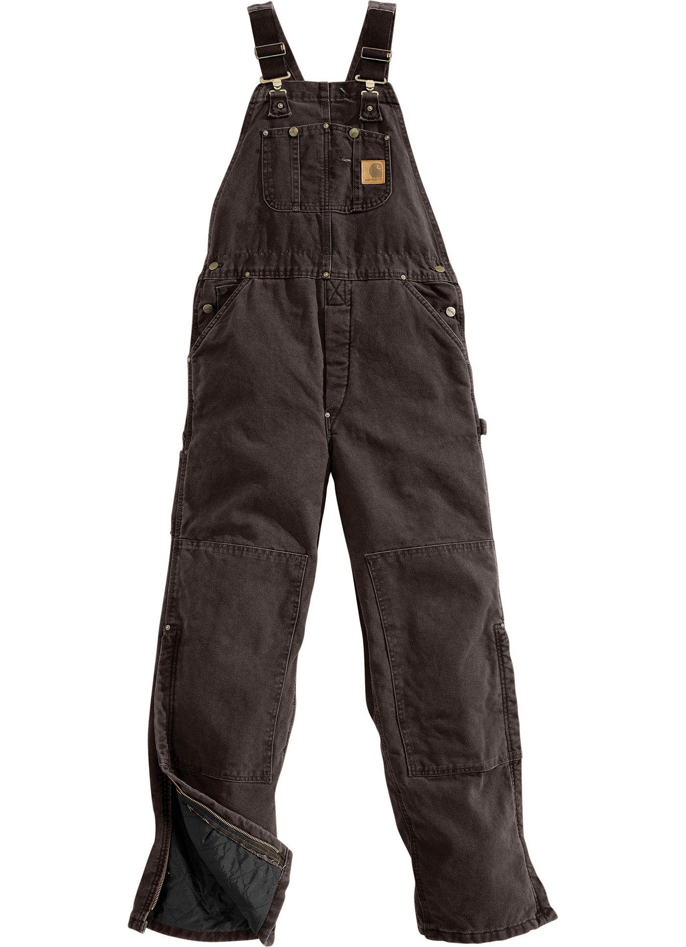 Carhartt Men's Sandstone Duck Quilt-Lined Overall Bib