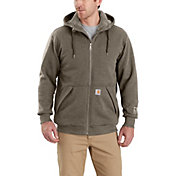 Carhartt Men's Rain Defender Rockland Sherpa-Lined Full-Zip Hooded Sweatshirt