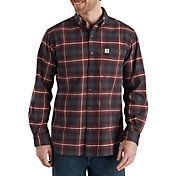 Carhartt Men's Rugged Flex Hamilton Plaid Button Down Shirt
