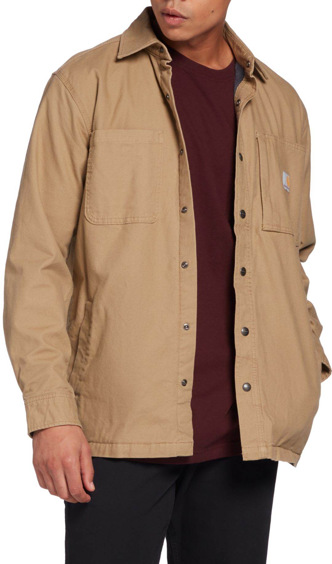 brand quality hot-selling real cost charm Carhartt Men's Rugged Flex Rigby Fleece-Lined Shirt Jacket