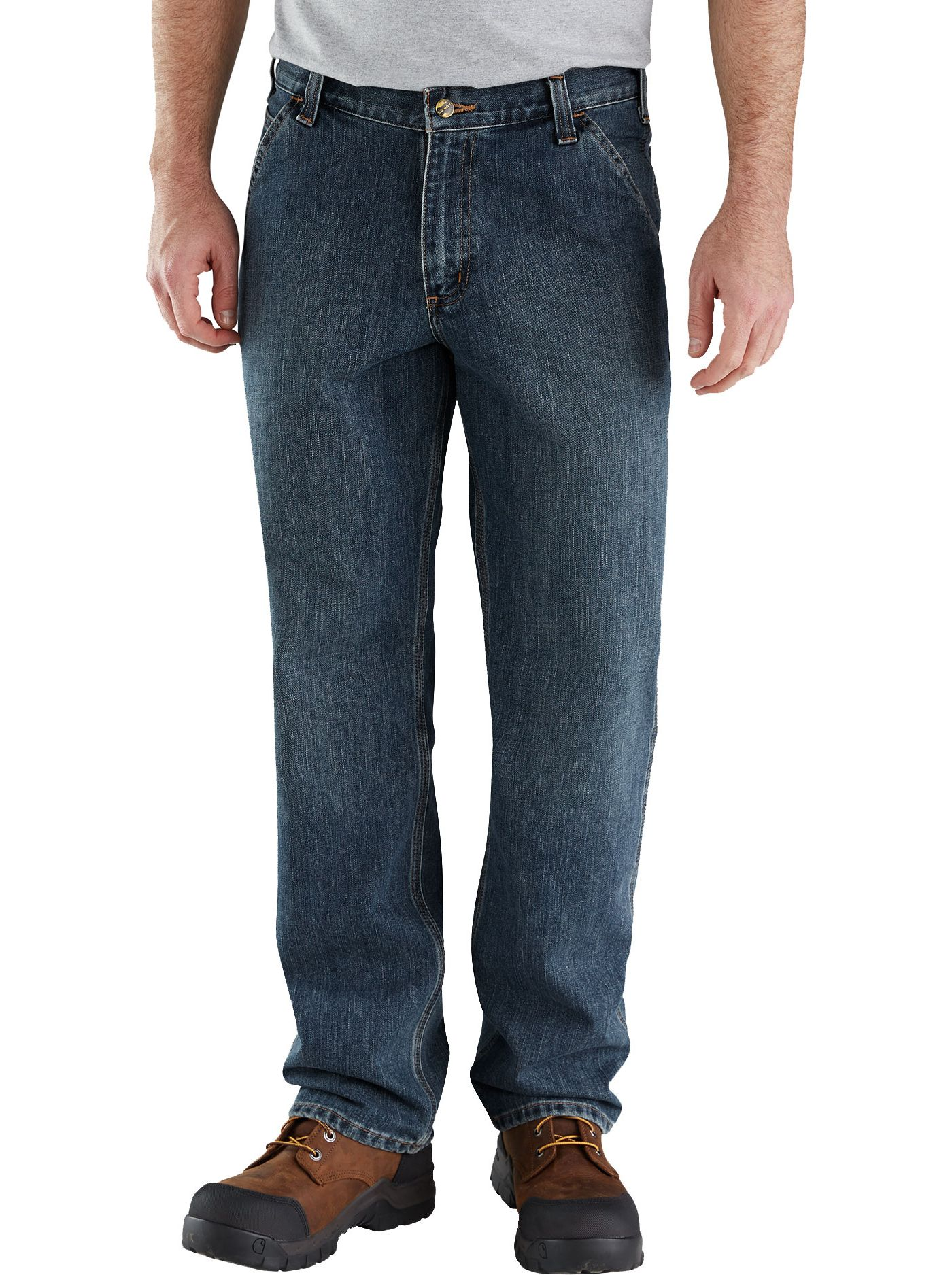 Carhartt Men's Relaxed Fit Holter Denim Dungarees