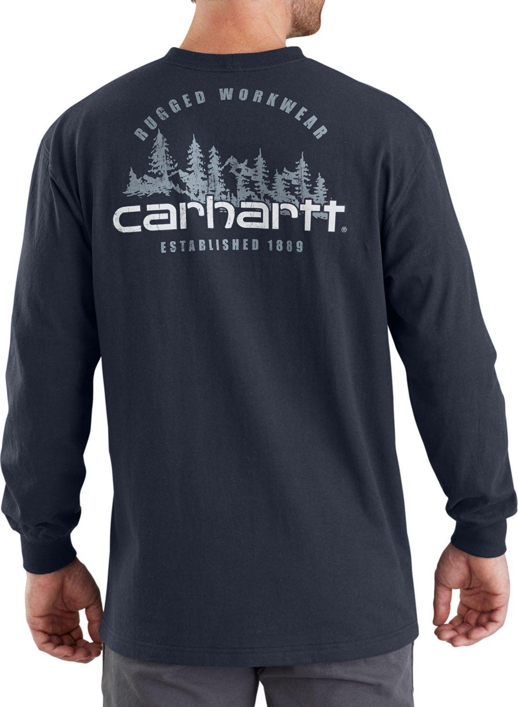 7000fdc58 Carhartt Men's Workwear Rugged Outdoors Mountain Pocket Long Sleeve Shirt 1