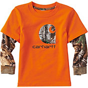 Carhartt Toddler Boys' Iconic C Camo Long Sleeve Shirt
