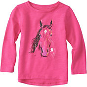 Carhartt Toddler Girls' Crayon Horse Long Sleeve Shirt