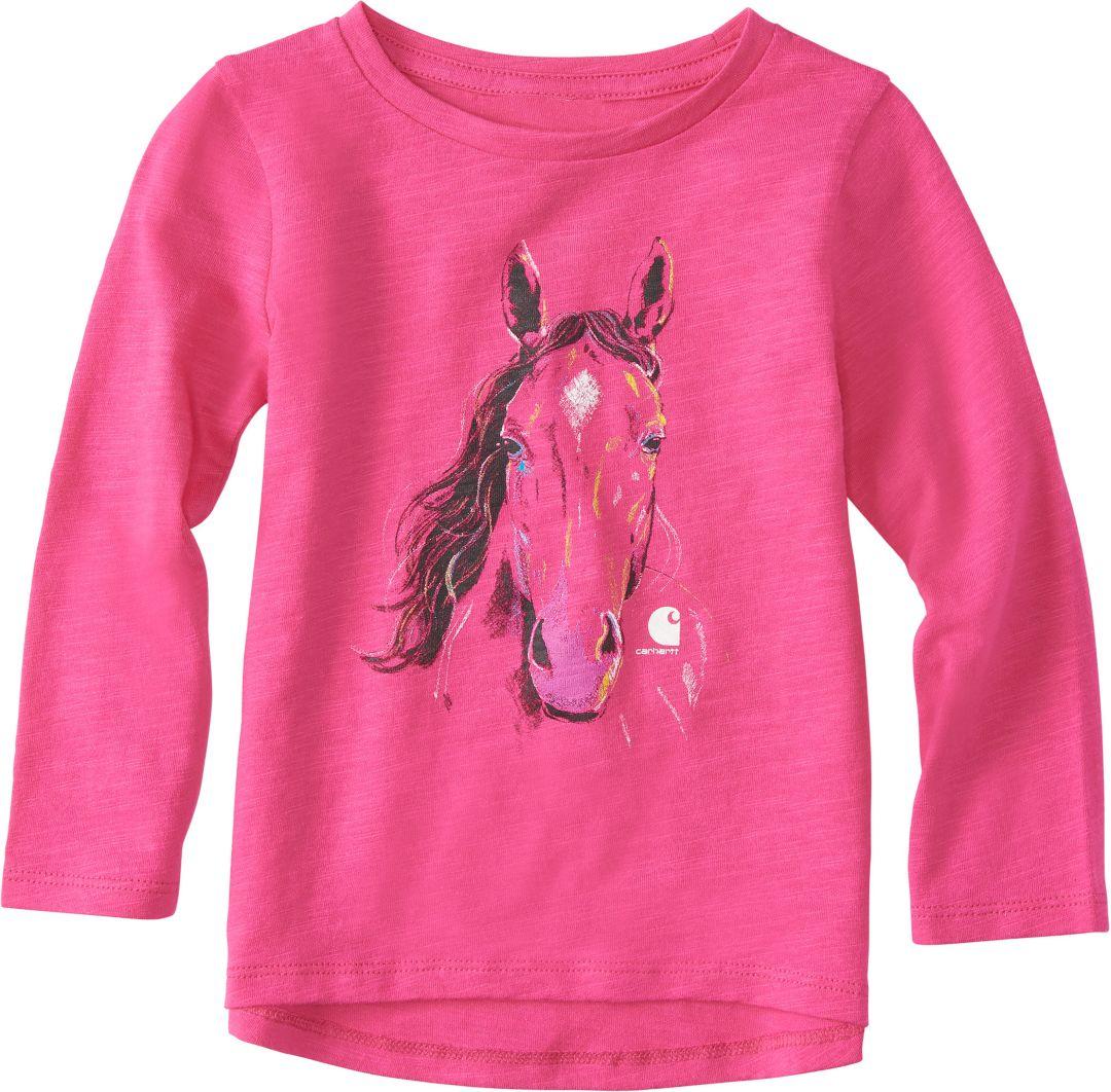 f3a230ef Carhartt Toddler Girls' Crayon Horse Long Sleeve Shirt | DICK'S ...