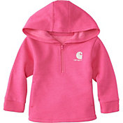Carhartt Toddler Girls' Heather Fleece Half-Zip Hoodie