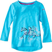 Carhartt Toddler Girls' Wrap Horse Long Sleeve Shirt