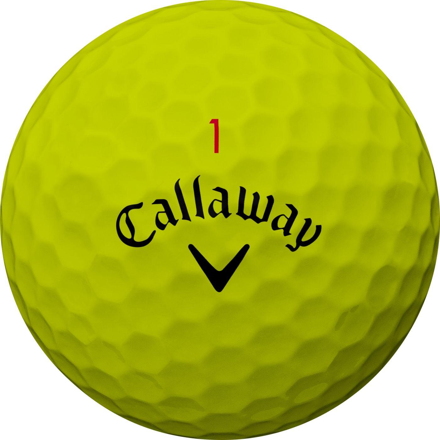 Callaway 2018 Chrome Soft Yellow Golf Balls