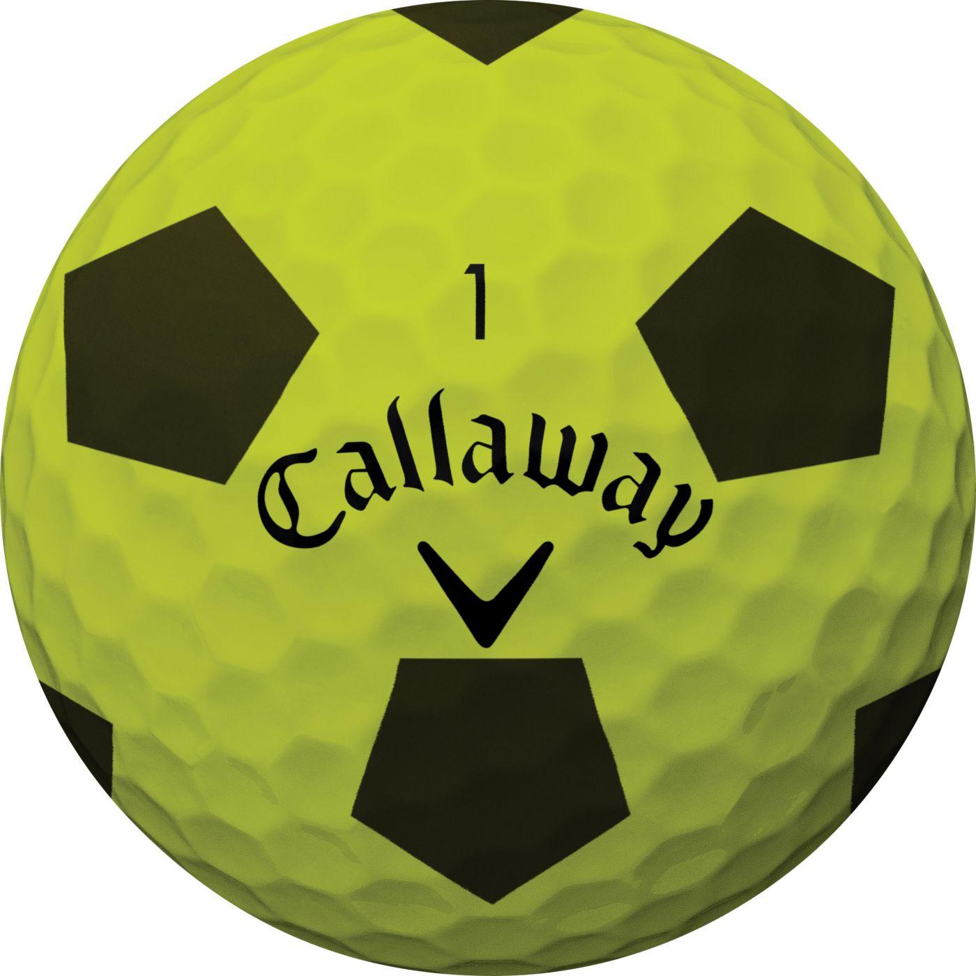 Callaway 2018 Chrome Soft Truvis Yellow Golf Balls