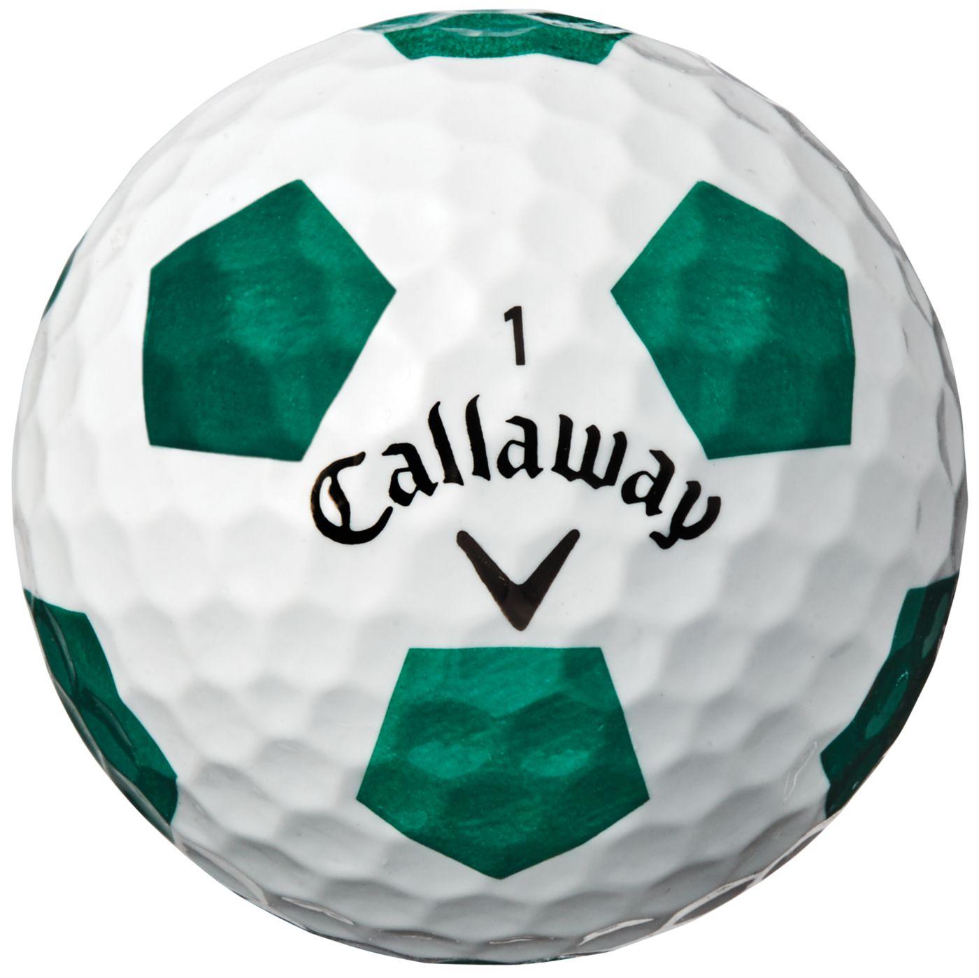 Callaway 2018 Chrome Soft X Truvis Green Golf Balls – Sports Matter Special Edition