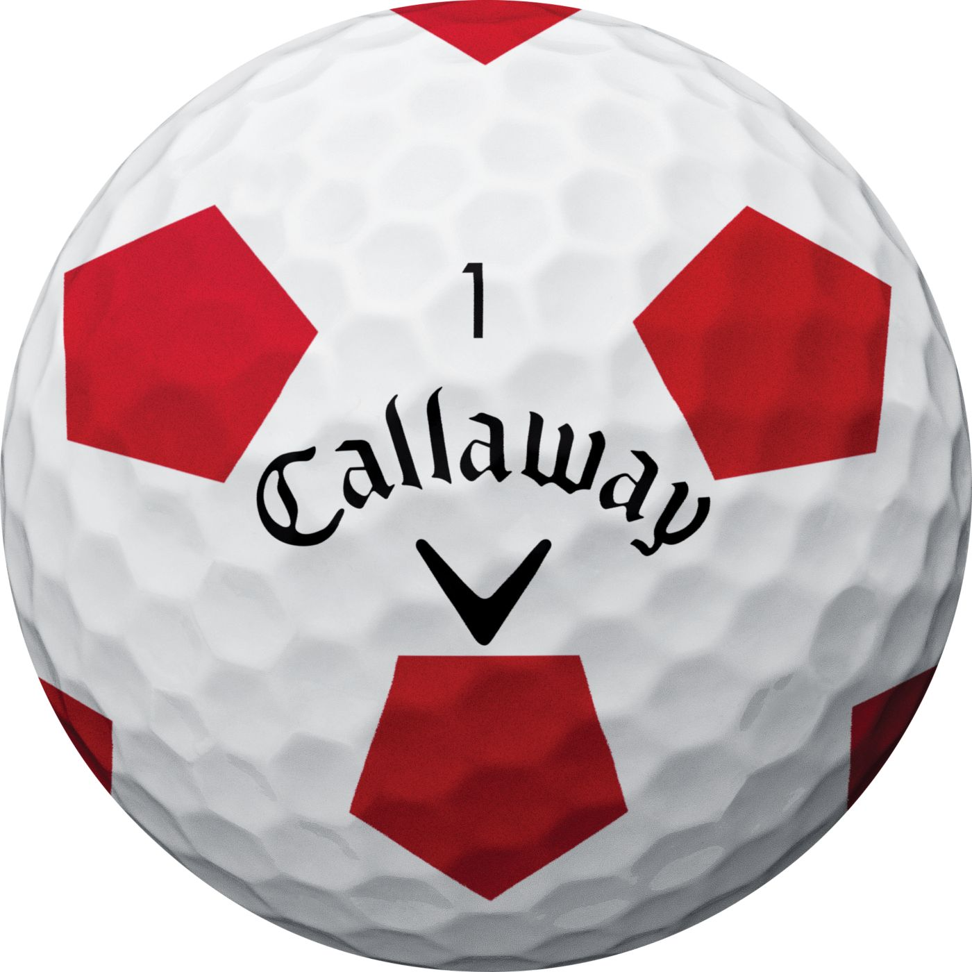 Callaway 2018 Chrome Soft X Truvis Red Golf Balls