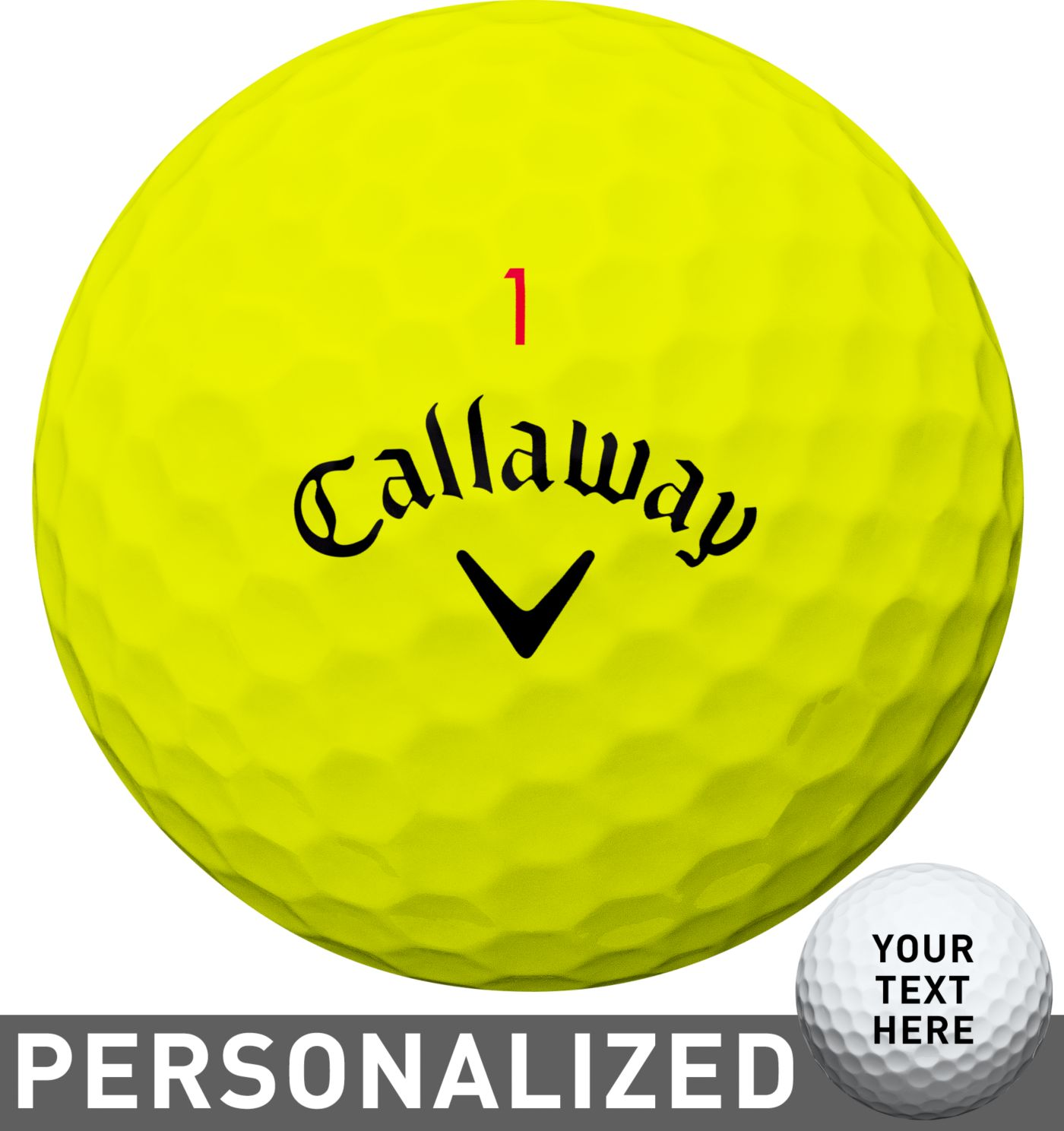Callaway 2018 Chrome Soft X Yellow Personalized Golf Balls