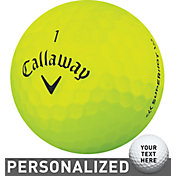 Callaway Superhot BOLD Yellow Personalized Golf Balls – 15 Pack