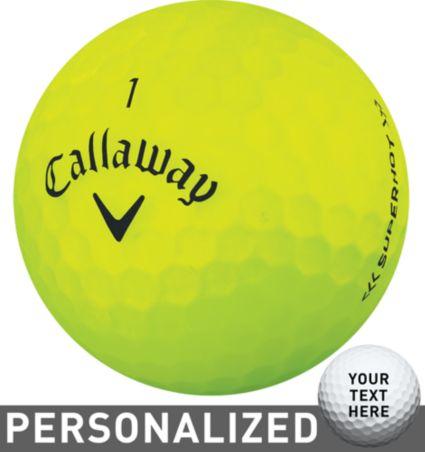 Callaway Superhot BOLD Yellow Personalized Golf Balls – 15 Pack