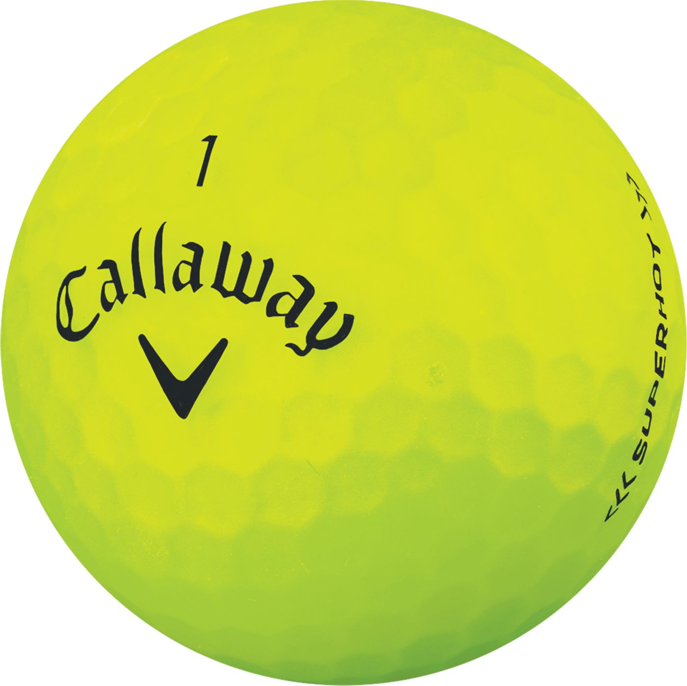 Callaway Superhot BOLD Yellow Golf Balls – 15 Pack
