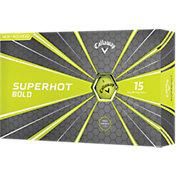 Callaway Superhot BOLD Yellow Golf Balls – 15 Pack