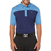 Callaway Men's Heather Color Block Golf Polo