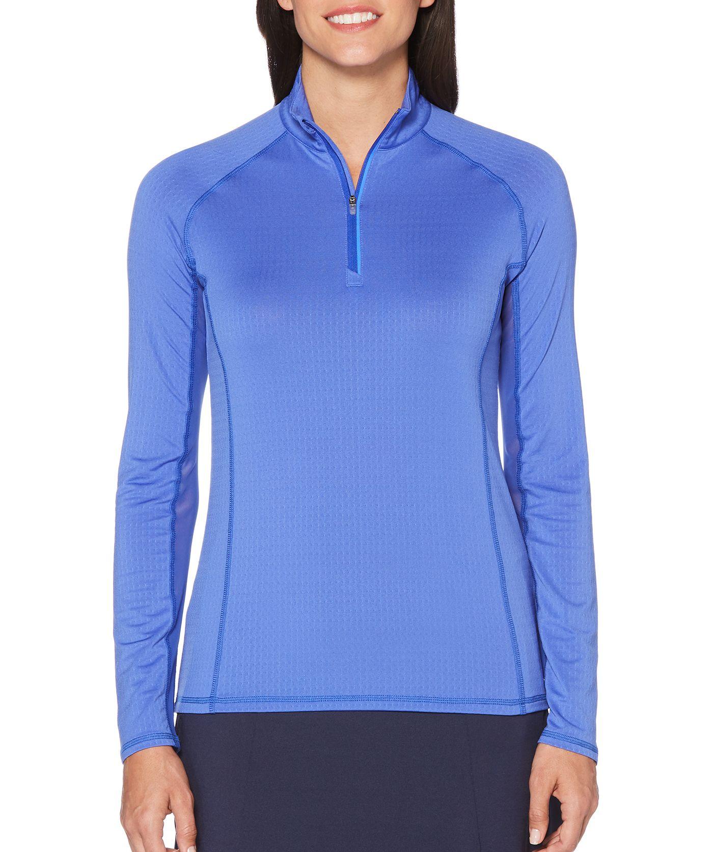 Callaway Women's Cooling Long Sleeve Mock Golf Polo