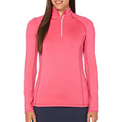 Callaway Women's Cooling Long Sleeve Mock Golf Polo