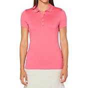 Callaway Women's Core Solid Micro Hex Golf Polo