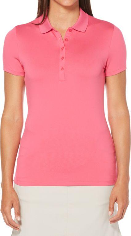 Callaway Women's Core Solid Micro Hex Golf Polo