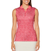 Callaway Women's Opti-Dri Ombre Dot Sleeveless Golf Polo