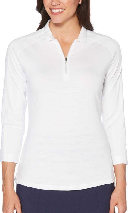 Callaway Women's Opti-Dri 3/4 Sleeve Golf Polo