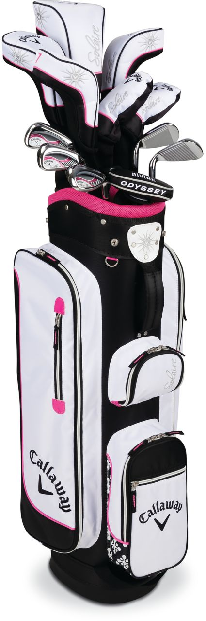 Callaway Women's 2016 Solaire 11-Piece Complete Set – (Graphite) – White/Pink