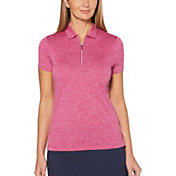 Callaway Women's Heathered ¼-Zip Golf Polo