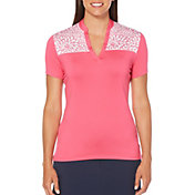 Callaway Women's Ventilated Floral Colorblock Golf Polo