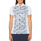 Callaway Women's Ventilated Kaleidoscope Mock Neck Golf Polo